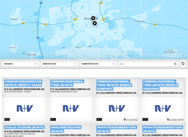 Ein Screenshot der Website jobsaround.tv