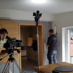 Dreharbeiten zu einem Imagefilm